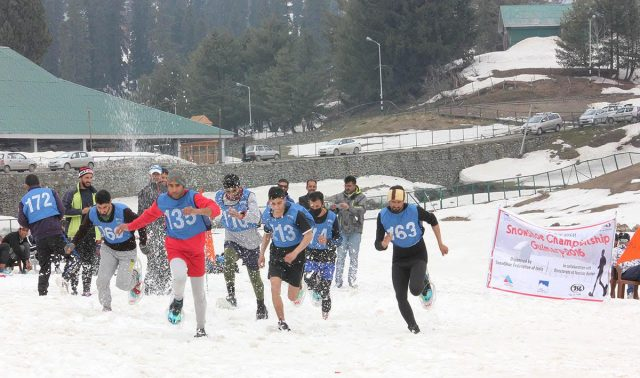 Snowshoe Sport Forays Into Kashmir: the First open SnowShoe championship was held at Gulmarg. it was first time that any SnowShoe event was held in kashmir. Recently two of Kashmir's top athltes represented India in World Snowshoe championship held in Italy.