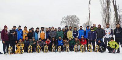 Winter Sports : SnowShoe event held at SP College ground Srinagar