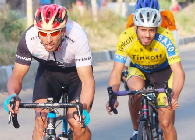Arunachal Cycling: Mohmiss finish first, Akbar Khan 3rd in first stage. Pic/KSW