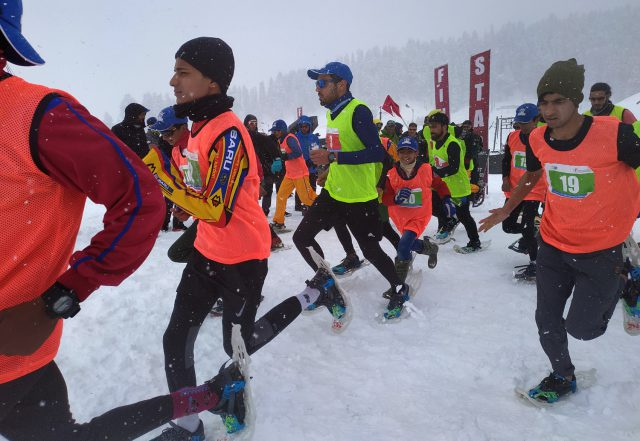 J&K SnowShoe trials for Khelo India Games on Febuary 3. File Pic/KSW