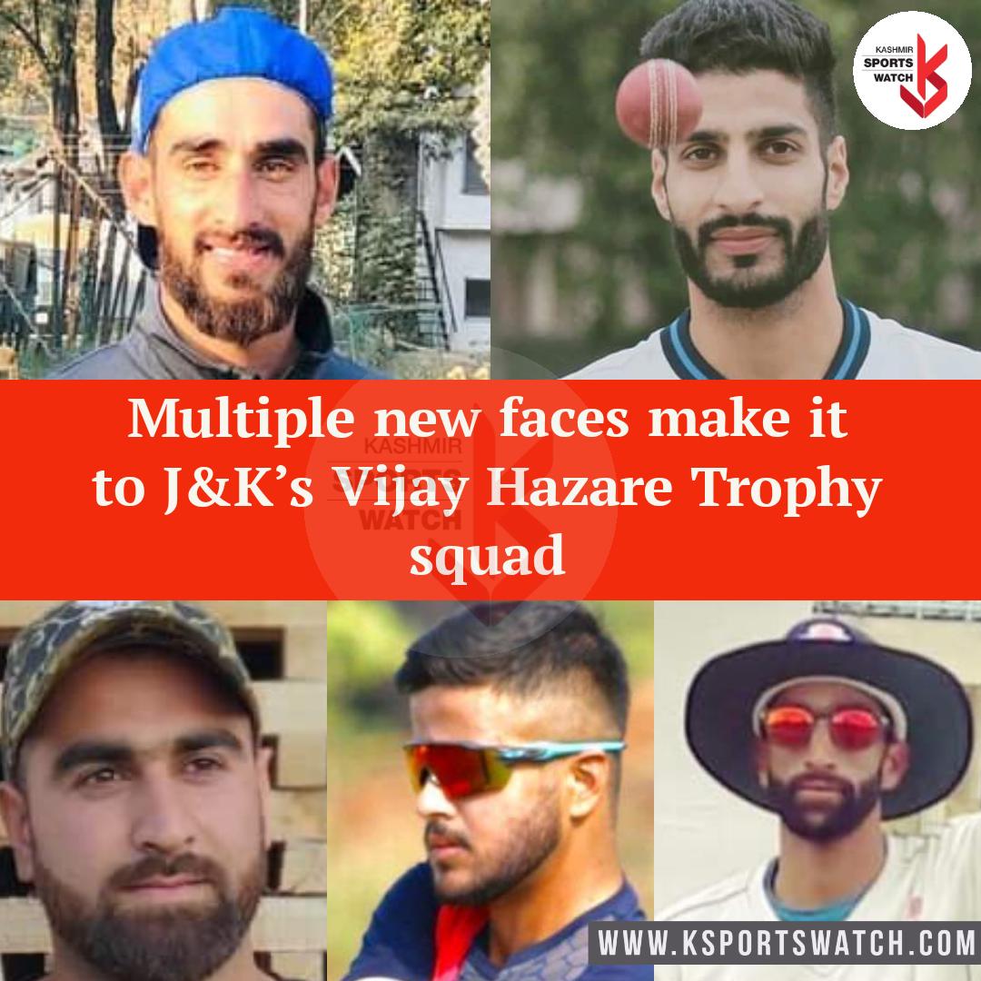 Multiple debutants included as JKCA names squad for Vijay Hazare Trophy