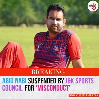 J&K Sports Council suspends cricketer-turned-coach Abid Nabi