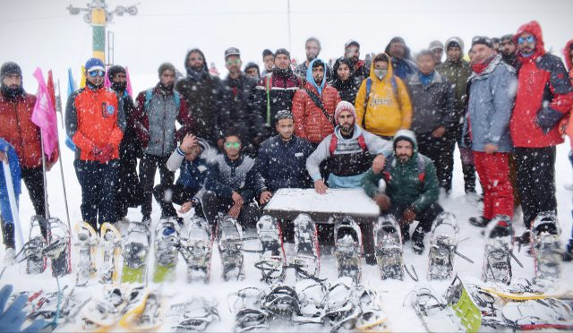 SnowShoe trials for Khelo India National Winter Games held.Pic/KSW
