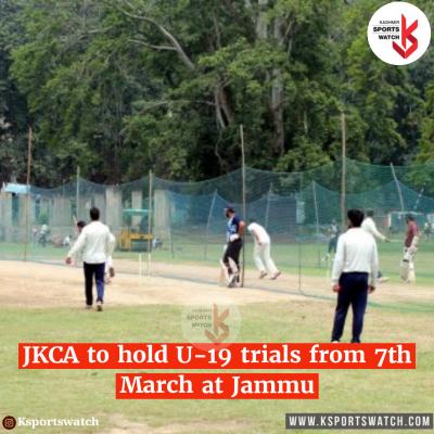 JKCA U-19 trials from March 7