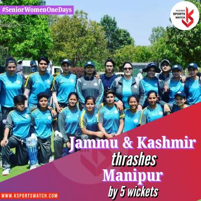 Women One-Days: Debutants steer J&K to big win over Manipur