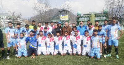 Bandipora , Ganderbal cruise into last round of Annual football championship