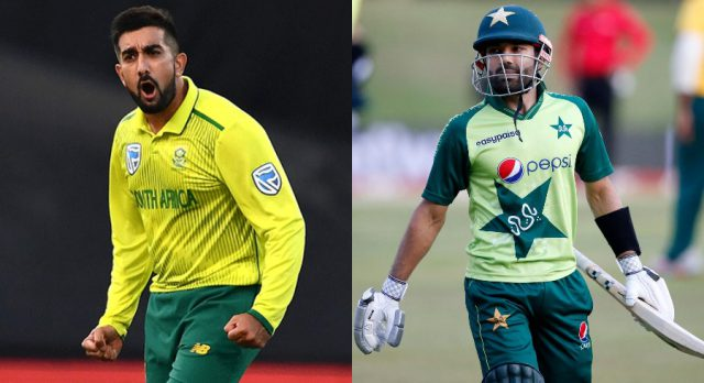 Give someone else a chance also: Tabraiz Shamsi to Mohammad Rizwan. Pic/Twitter