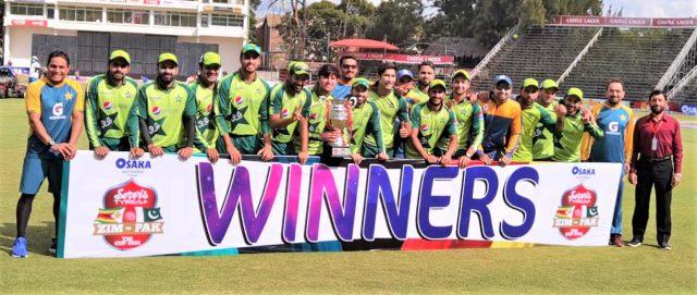 Babar Azam, Hasan Ali, Mohammad Rizwan lead Pakistan to series win. Pic/PCB