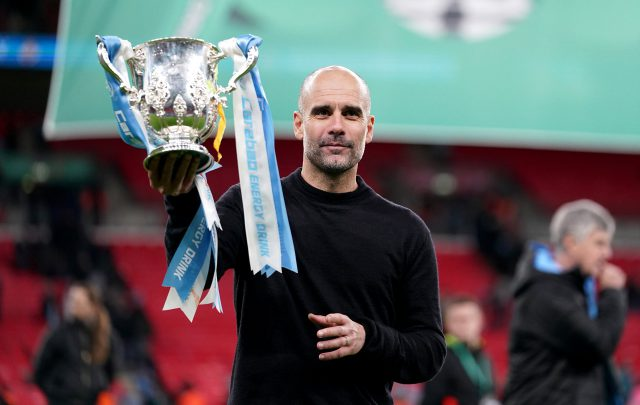 It's easier to win at big clubs, says Guardiola after leading Manchester City to another Carabao Cup win. Pic/Manchester City Twitter
