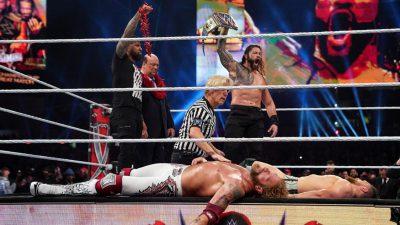 Wrestlemania 37: Universal Champion Roman Reigns beat Daniel Bryan and Edge