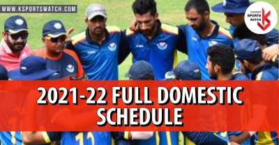 2021-22 Full Domestic Cricket Schedule: Check Here