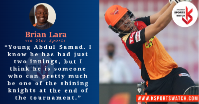 Brian Lara picks Abdul Samad as player to watch out for in IPL 2021