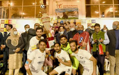 J&K Bank lifts 28th Annual Football Championship title