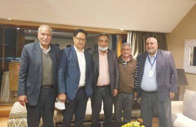 JKFA delegations meet Kiren Rijiju