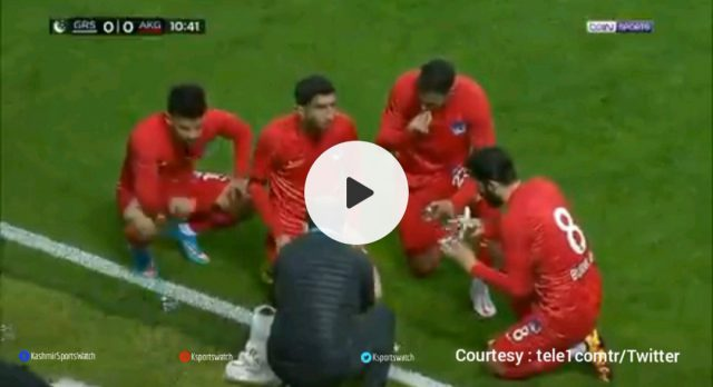 Watch: Turkish football side breaking fast during match. Pic/Screen Grab