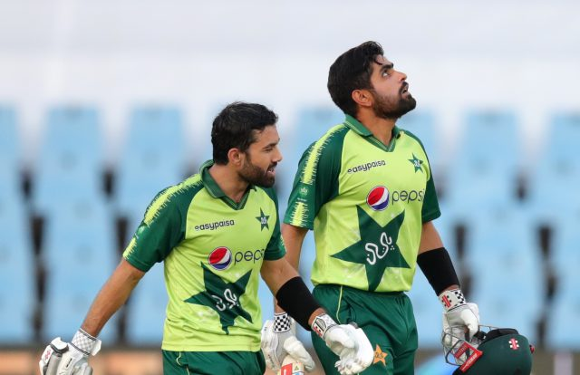 Mohammad Rizwan was fasting during match, reveals Babar Azam. Pic/PCB Twitter