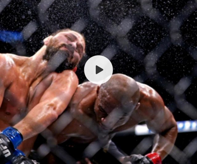 Watch: Kamaru Usman's brutal knockout of Jorge Masvidal . Screen Grab