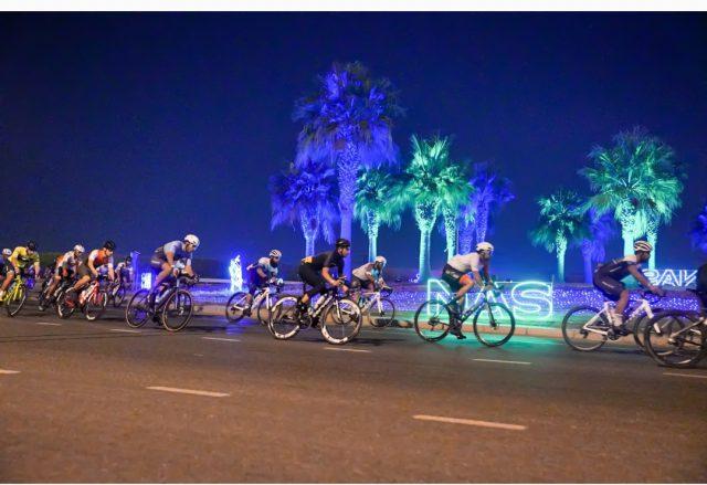 Rashid Al Balooshi wins NAS Cycling Championship race for Amateur UAE Men, Khalid Al Thani finishes second. Pic/Dubai Sports Council