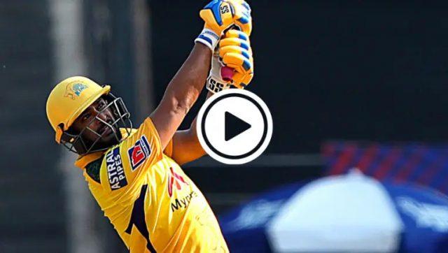IPL: Ambati Rayudu six lands on the roof of Wankhade Stadium. Screen Grab