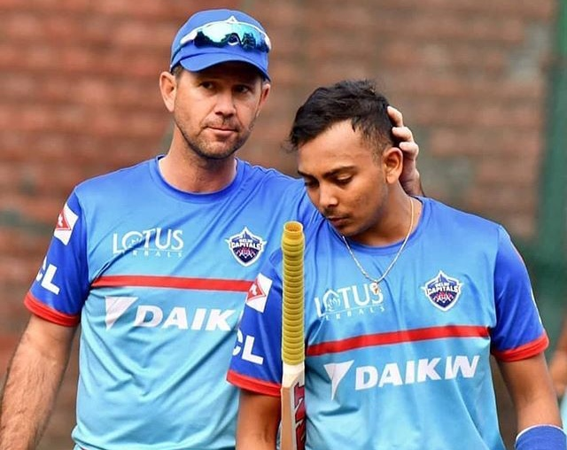 Delhi Capitals coach Ricky Ponting admits players going through 'difficult' times amid India COVID-19 situation. Pic/Delhi Capitals Twitter