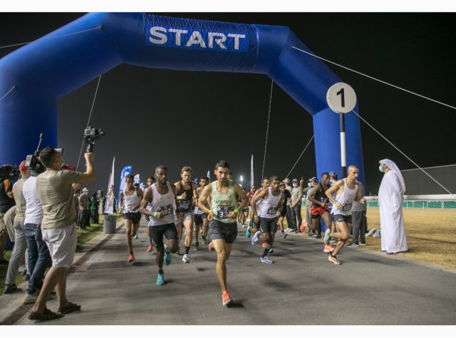 El Ghouz leads Moroccan cleansweep in men's Open category of 10km Dubai NAS Run. Pic/Dubai Sports Council
