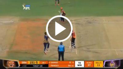 Watch: Abdul Samad hitting sixes off Pat Cummins in IPL 2021