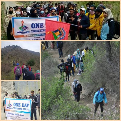 Hussaini Sports Club organises trekking event