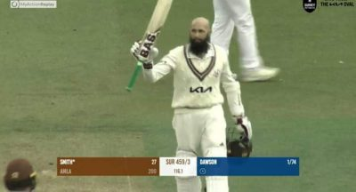 County Championship: Hashim Amla scores superb unbeaten double ton for Surrey