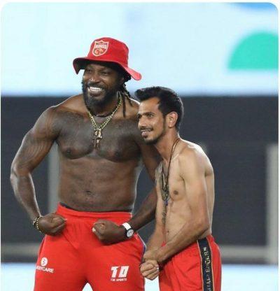 IPL: Punjab Kings troll RCB with this shirtless pic of Chris Gayle and Yuzvendra Chahal