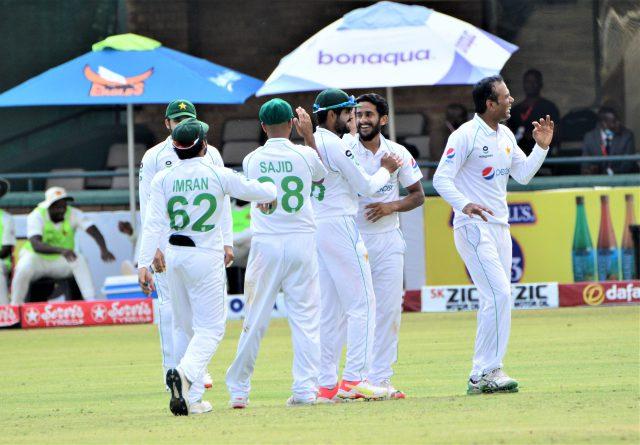 Fawad Alam, Hasan Ali star as Pakistan earn innings win over Zimbabwe. Pic/PCB