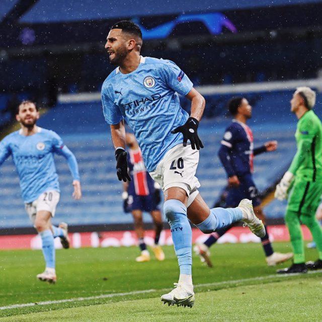 Champions League: Riyad Mahrez nets twice as Manchester City knockout PSG on way to final. Pic/Mahrez Twitter
