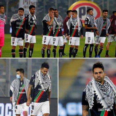 In solidarity with Palestine, Chilean football players wear Keffiyehs