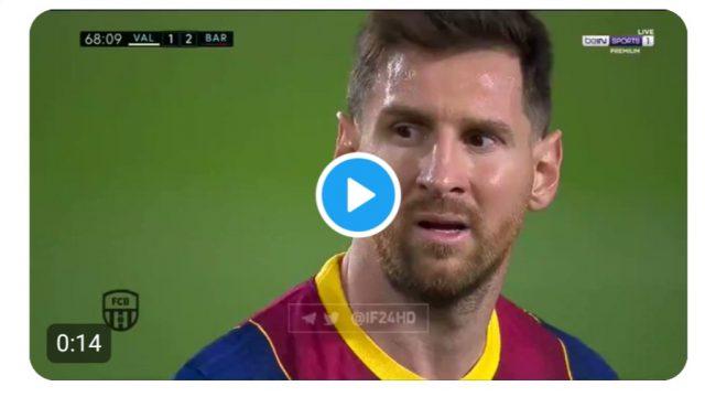 La Liga: Lionel Messi scores brilliant free kick as Barcelona beat Valencia 3-2