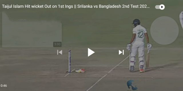 Watch: Is this unluckiest dismissal in Cricket ?. Pic/Screengrab