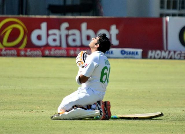 Abid Ali scores double ton as Pakistan take command in 2nd test against Zimbabwe. Pic/ICC