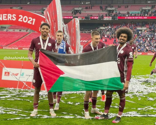 FA Cup: Leicester City duo Hamza Choudhury, Wesley Fofana wave Palestine flag after final victory. Pic/Twitter