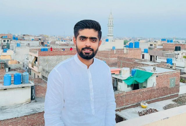 Never forget where you came from: Babar Azam shows his old house. Pic/Babar Azam Twitter