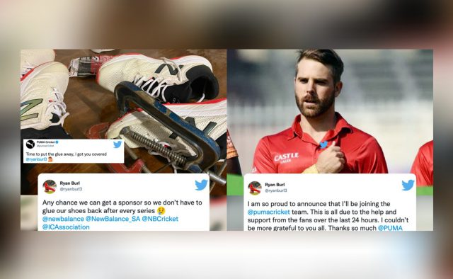 Put the glue away: Puma comes to help of Zimbabwe cricketer. Pic/Twitter