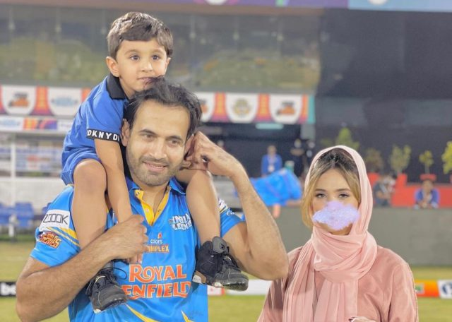 I'm her mate not her master: Irfan Pathan reacts on blurred face of wife Safa Baig. Pic/Irfan Pathan Twitter