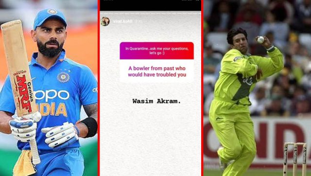 Wasim Akram would have troubled me, says Virat Kohli. Pic/Twitter/Graphics