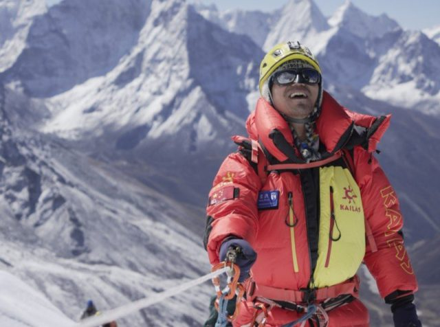 Zhang Hong becomes first Blind Asian to scale Mount Everest. Pic/Twitter