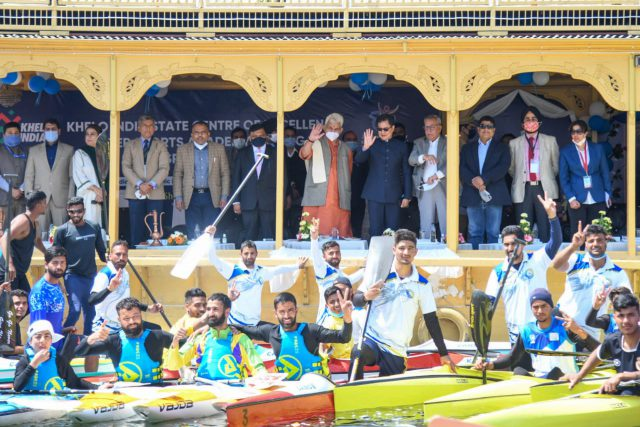 Khelo India State Centre of Excellence in Srinagar to add training facilities in Kayaking and Canoeing. Pic/PIB