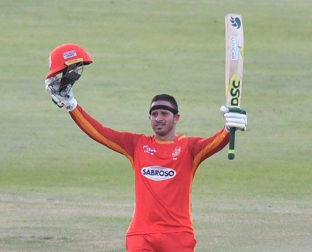 Usman Khawaja 's unbeaten century script Islamabad United's 15-run win over Peshawar Zalmi in run feast. Pic/PSL