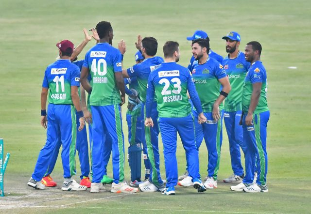 Blessing, Sohaib, Sohail take Multan Sultans into HBL PSL 6 final. Pic/PSL