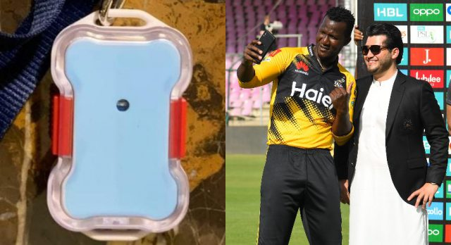 PSL 6: To keep eye on everyone, bluetooth tracker sent to players and officials. Pic/Cricket Pakistan Twitter