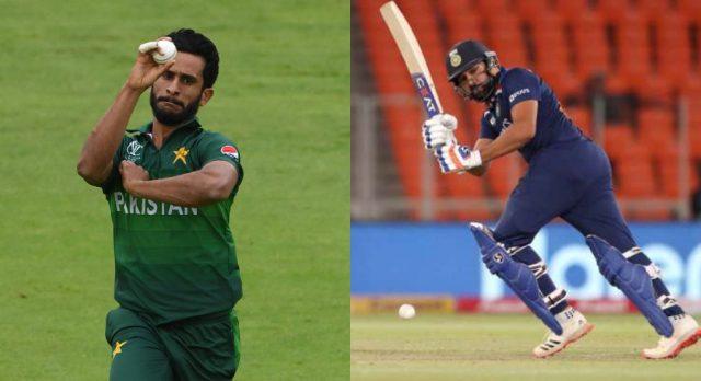 Praising India batsman, Hassan Ali says Rohit Sharma can hurt you badly. Pic/Twitter