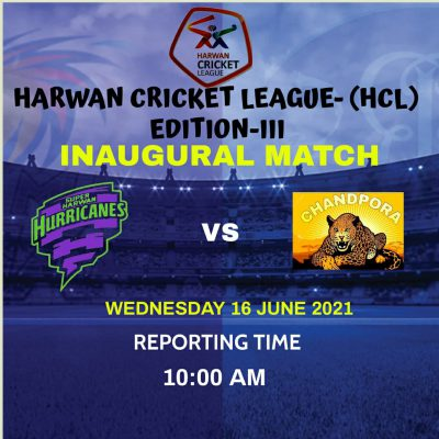 Harwan Cricket League to start from June 16th