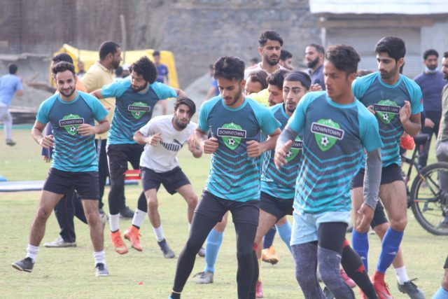 With eye on I-League, Downtown Heroes FC resume training.Pic/KSW