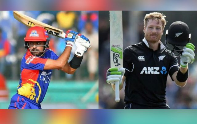 Babar Azam wants to learn art of Power hitting from Martin Guptill. Pic/Twitter/Graphics
