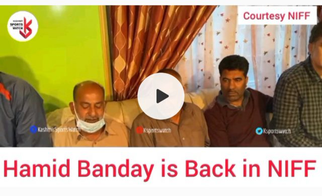 NIFF rejects resignation of Hamid Banday. Pic/Screengrab